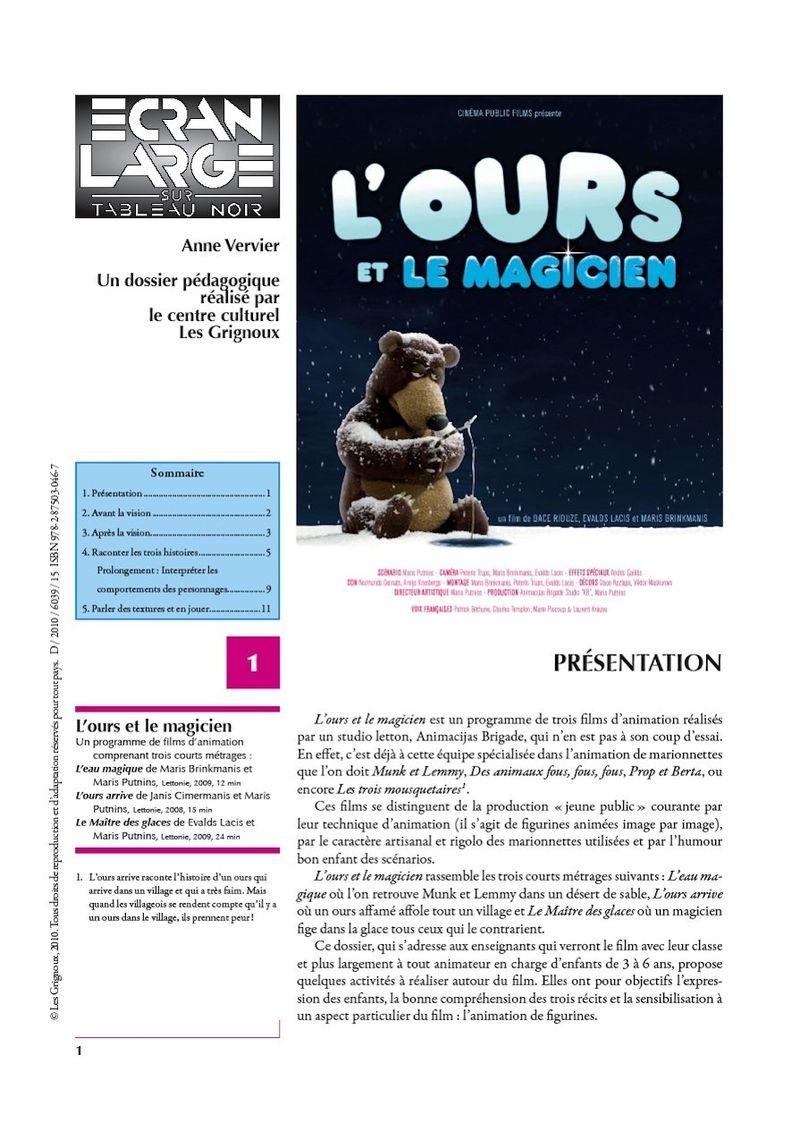 affiche du dossier L'Ours et le Magicien