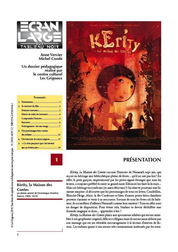 affiche du dossier Kérity, la maison des contes