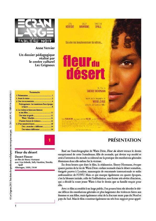 affiche du dossier Fleur du désert - Desert Flower