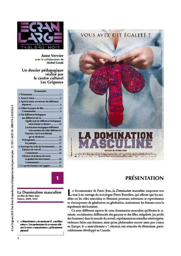 affiche du dossier La Domination masculine