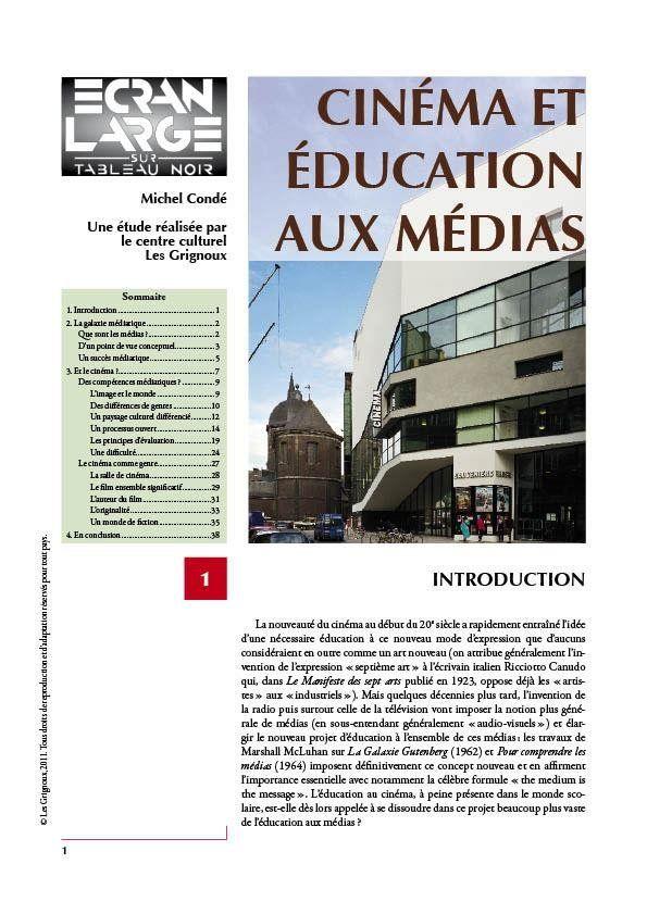affiche du dossier Cinéma et éducation aux médias