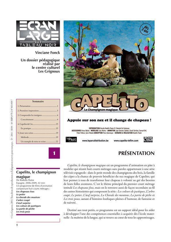 affiche du dossier Capelito, le champignon magique