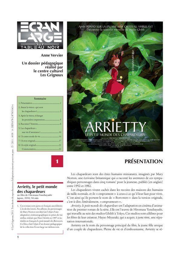affiche du dossier Arrietty, le petit monde des chapardeurs