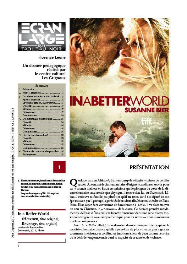 affiche du dossier In a Better World