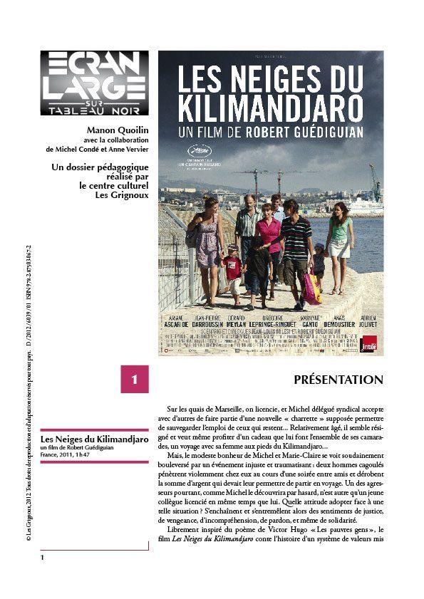 affiche du dossier Les Neiges du Kilimandjaro