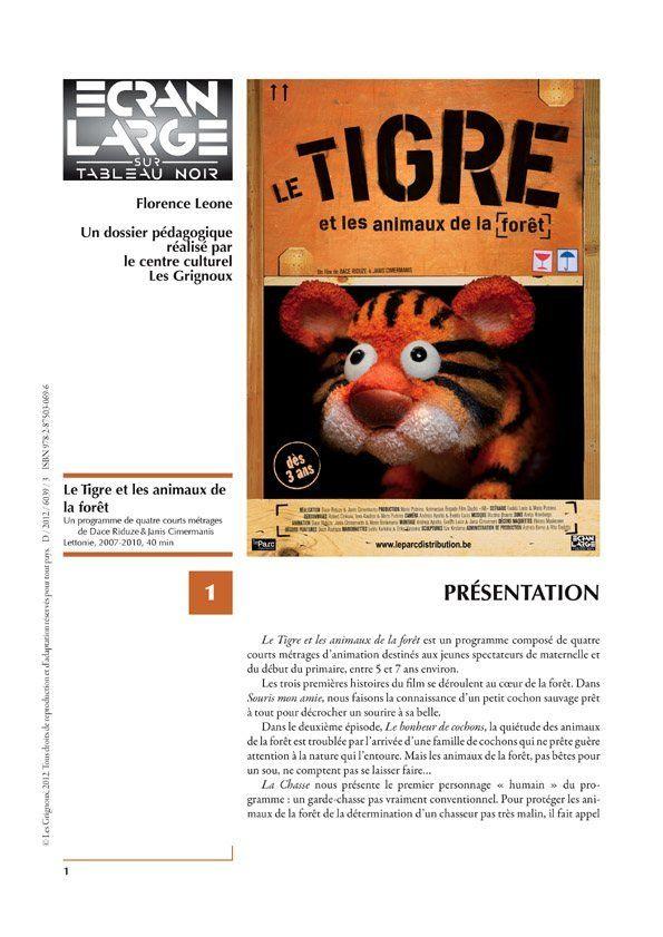 affiche du dossier Le Tigre et les animaux de la forêt