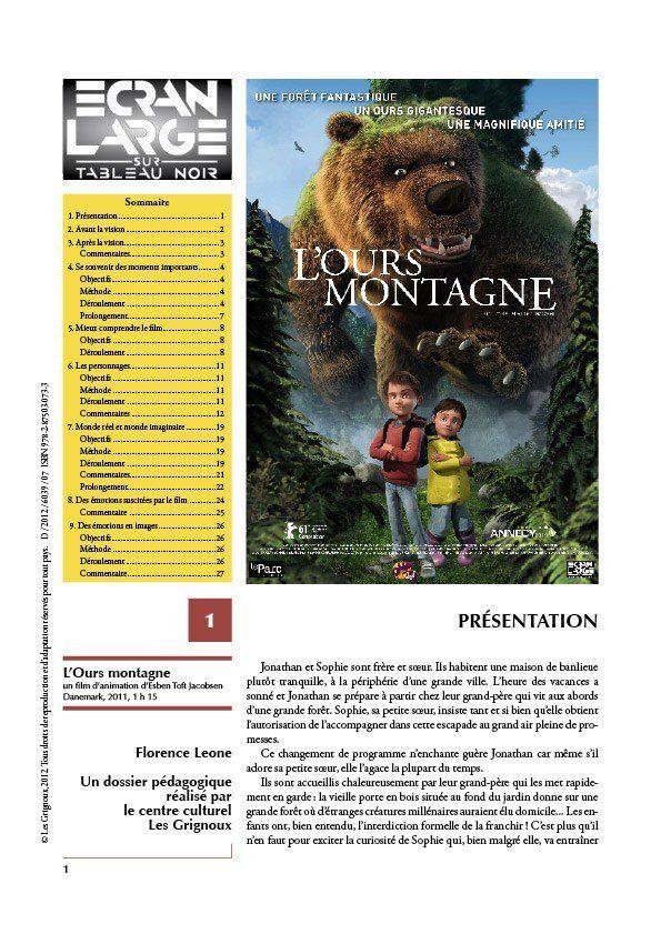 affiche du dossier L'Ours montagne