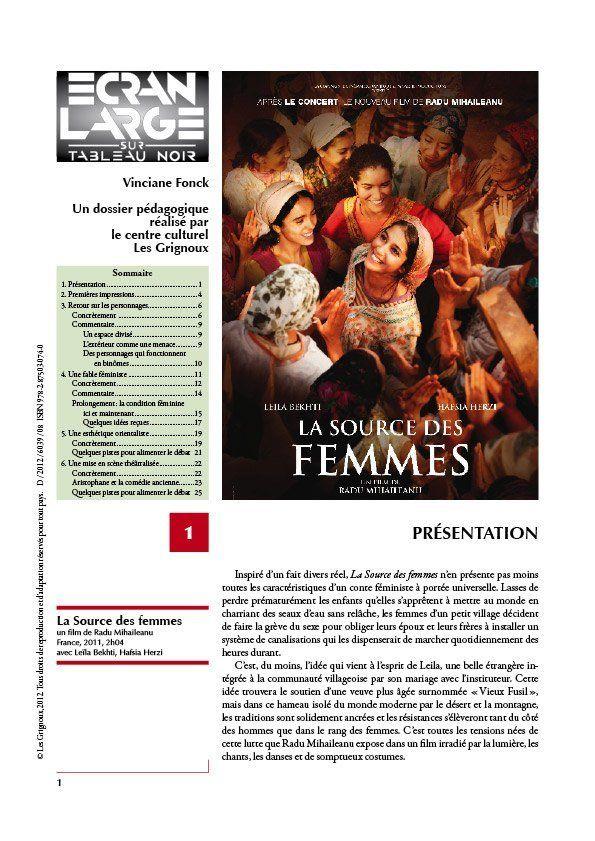 affiche du dossier La Source des femmes
