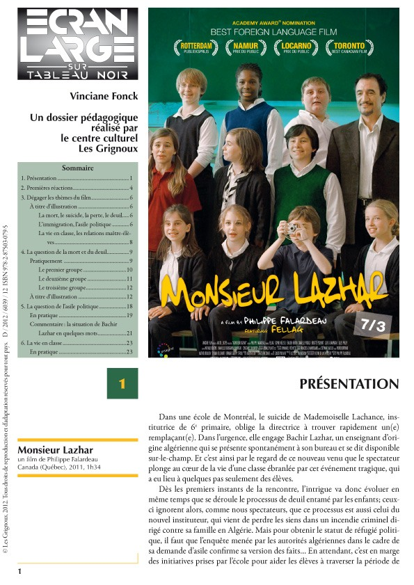 affiche du dossier Monsieur Lazhar