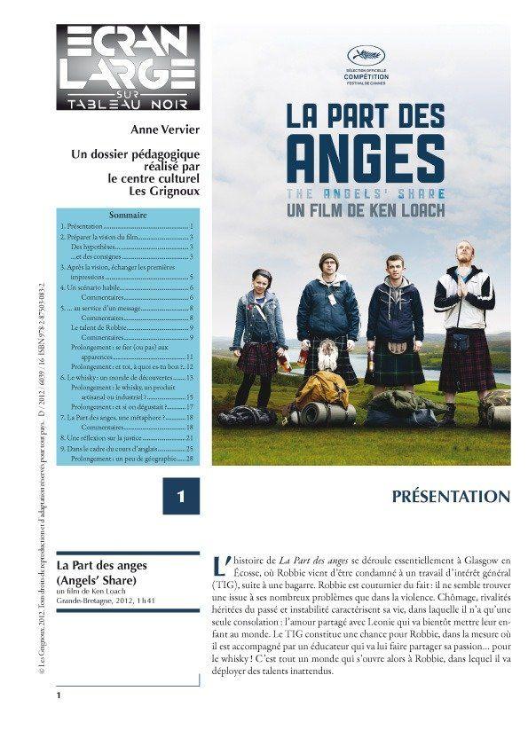 affiche du dossier La Part des Anges