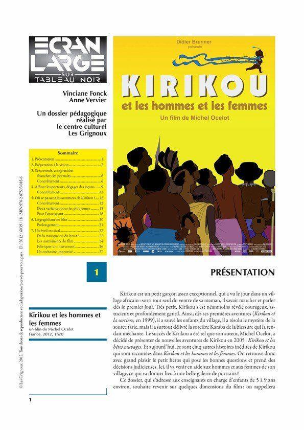 affiche du dossier Kirikou et les hommes et les femmes