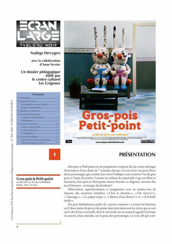 affiche du dossier Gros-pois & Petit-point