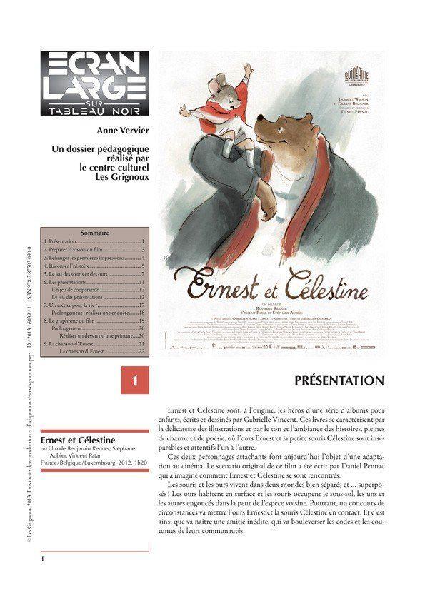 affiche du dossier Ernest et Célestine
