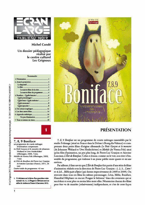 affiche du dossier 7, 8, 9… Boniface