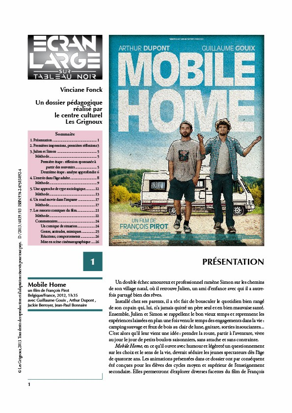 affiche du dossier Mobile Home