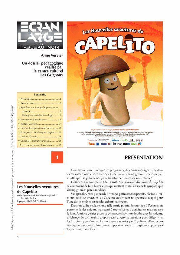 affiche du dossier Les Nouvelles Aventures de Capelito
