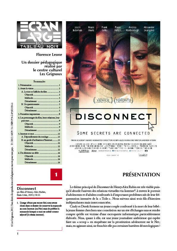 affiche du dossier Disconnect