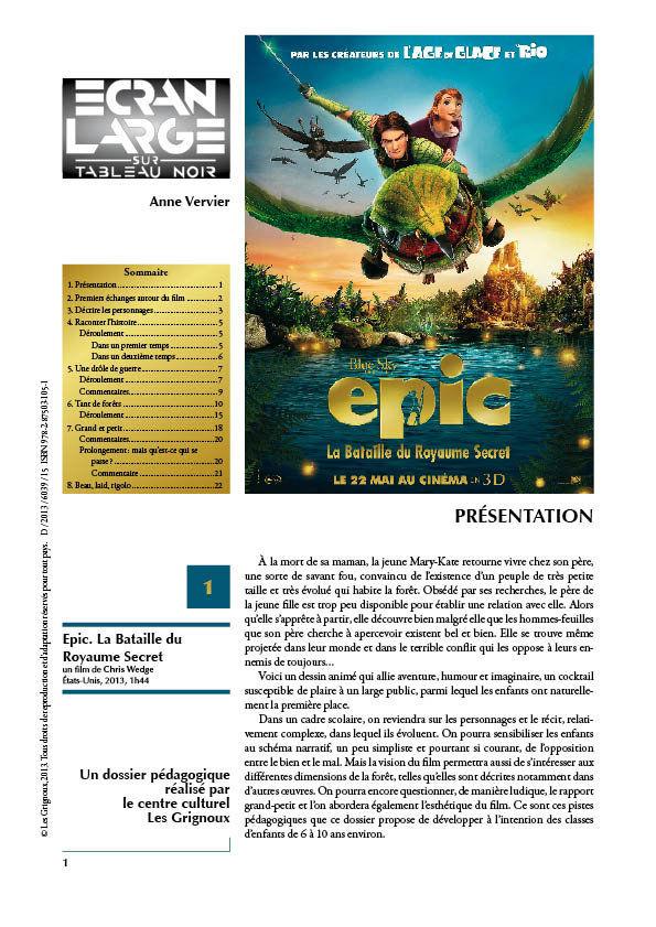 affiche du dossier Epic
