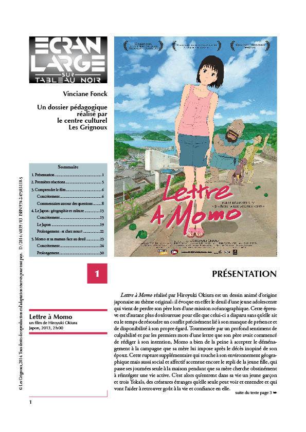 affiche du dossier La Lettre à Momo