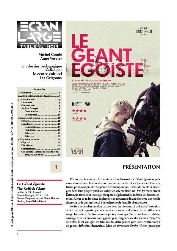 affiche du dossier Le Géant égoïste (The Selfish Giant)