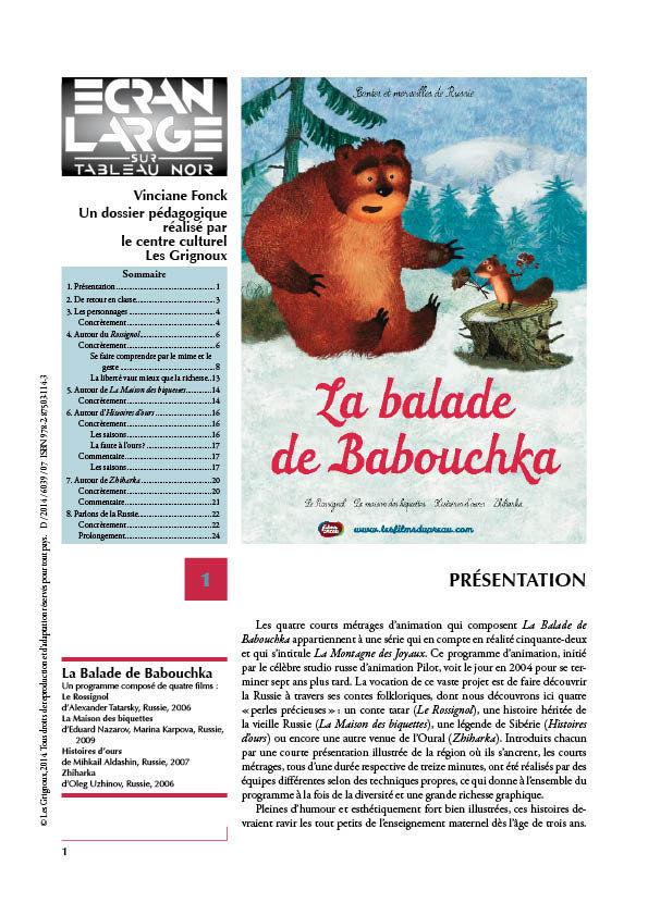 affiche du dossier La Balade de Babouchka