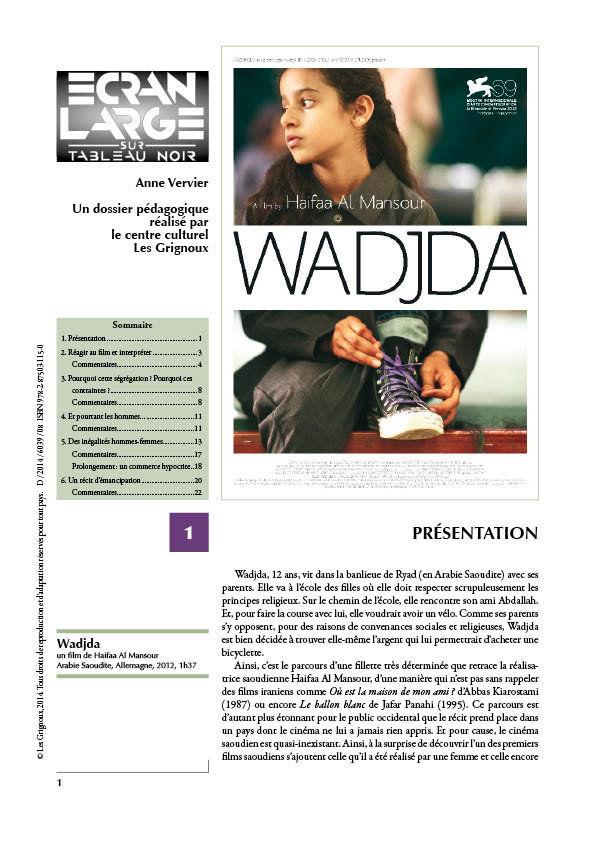 affiche du dossier Wadjda