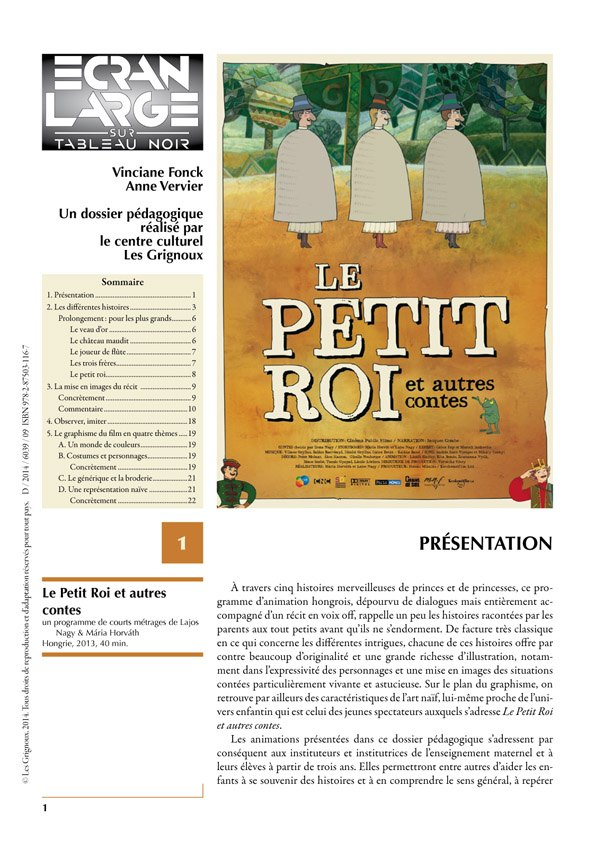 affiche du dossier Le Petit Roi et autres contes