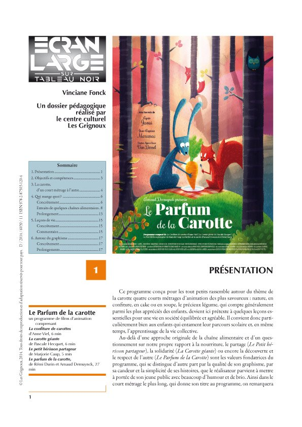 affiche du dossier Le Parfum de la carotte