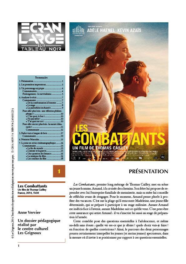 affiche du dossier Les Combattants