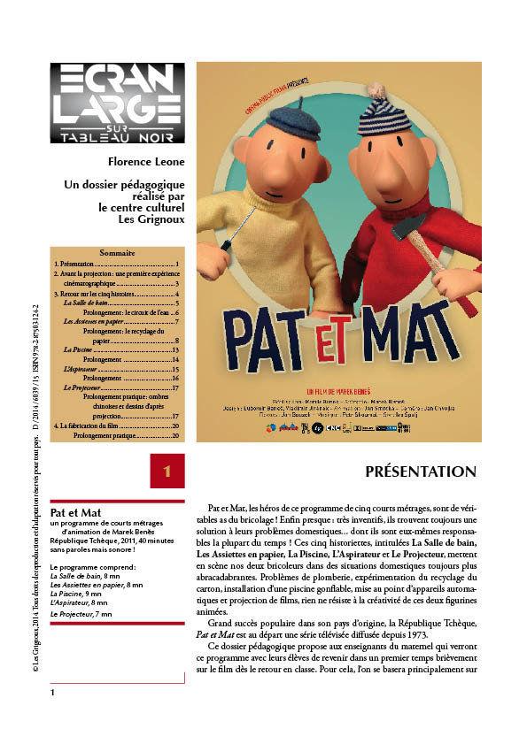 affiche du dossier Pat et Mat