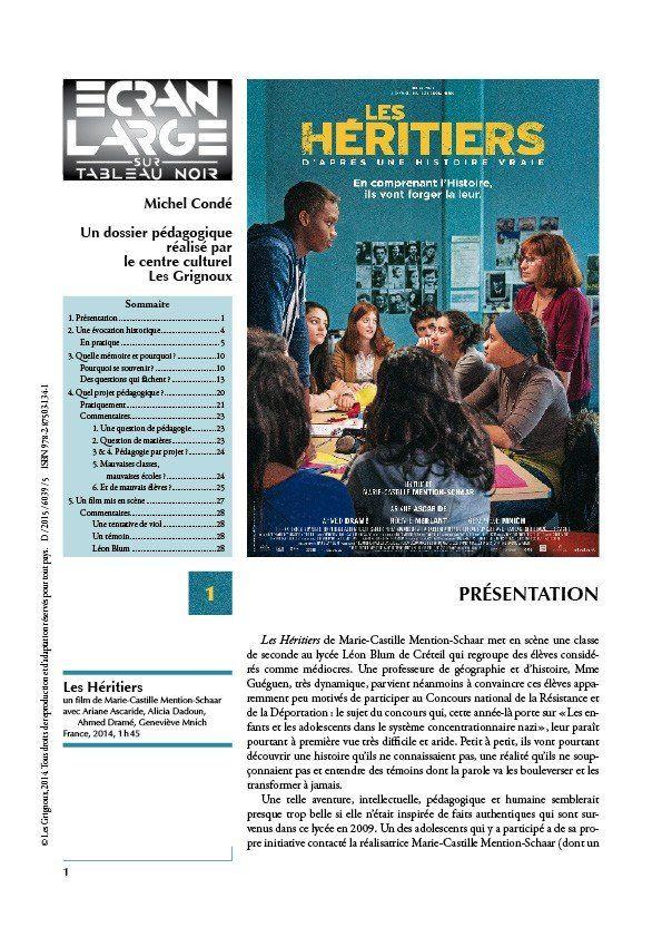 affiche du dossier Les Héritiers