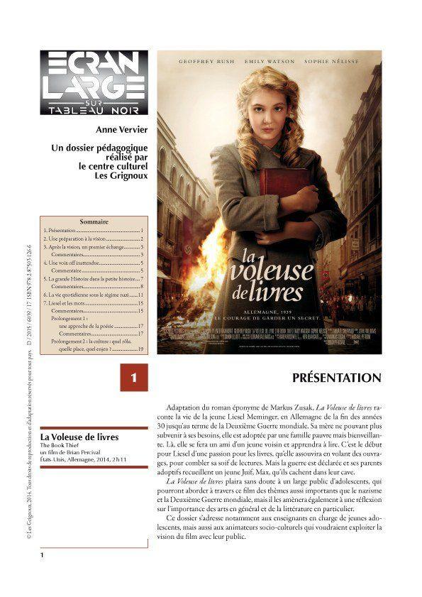 affiche du dossier La Voleuse de livres