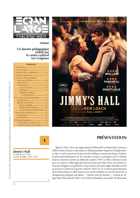 affiche du dossier Jimmy's Hall