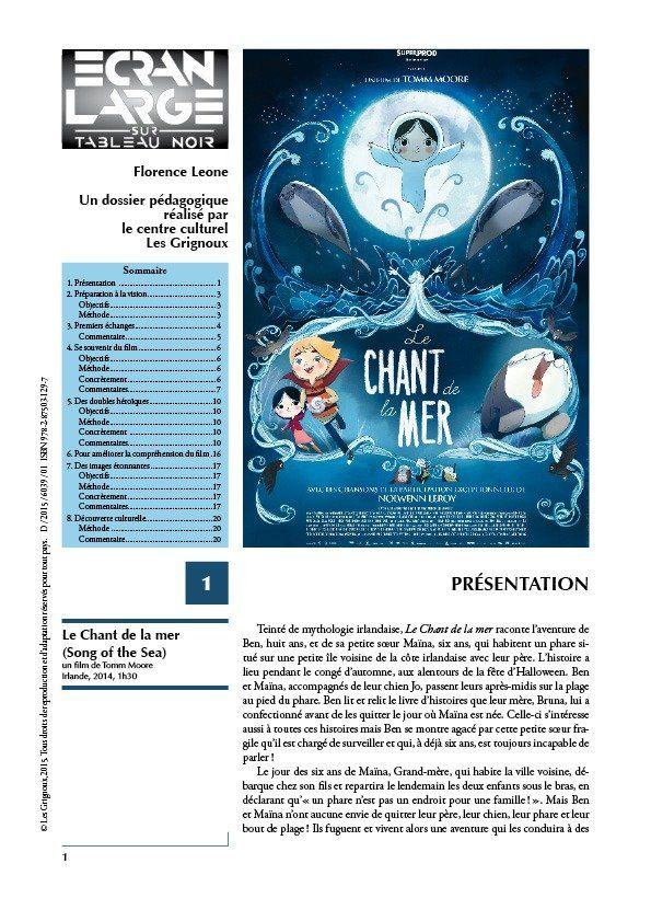 affiche du dossier Le Chant de la mer