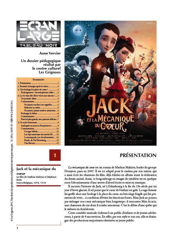 affiche du dossier Jack et la mécanique du cœur