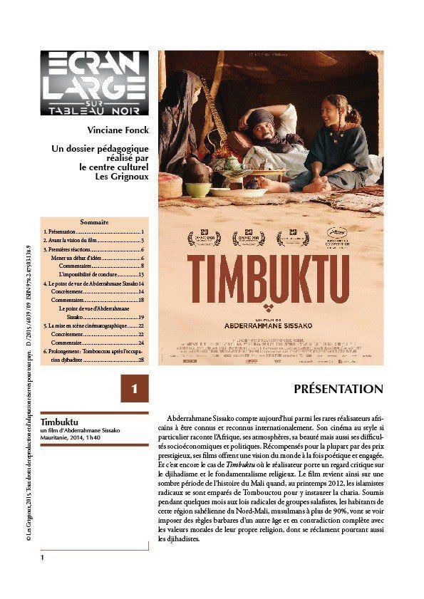 affiche du dossier Timbuktu