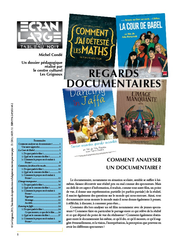 affiche du dossier Regards documentaires