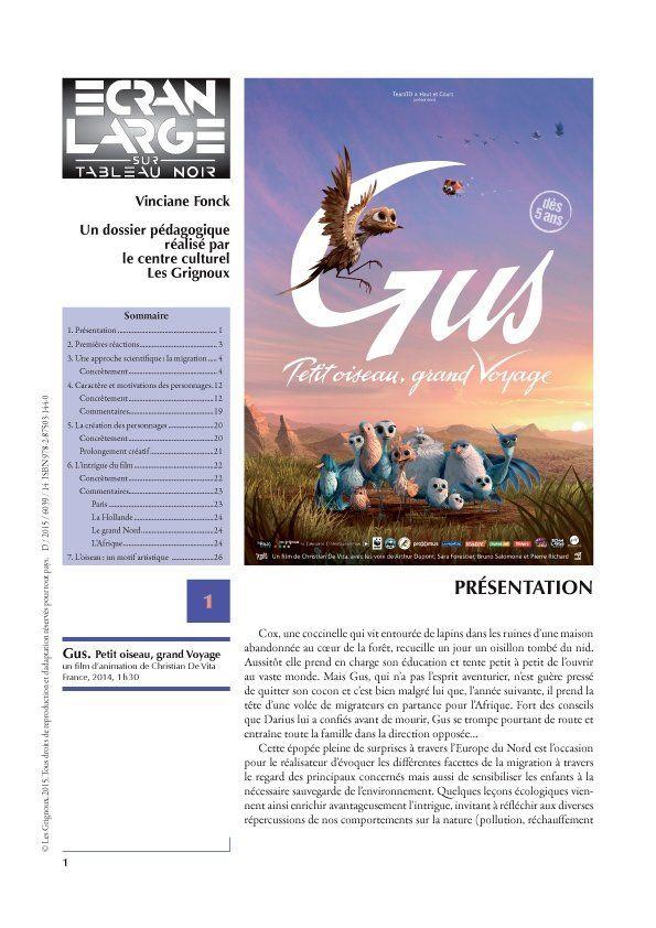affiche du dossier Gus, petit oiseau grand voyage