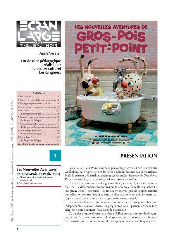 affiche du dossier Les Nouvelles Aventures de Gros-Pois et Petit-Point