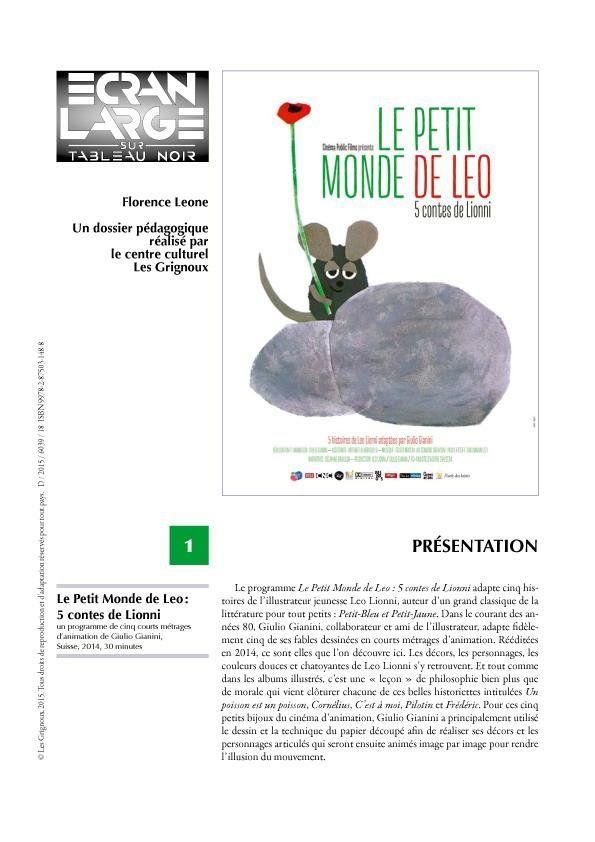 affiche du dossier Le Petit Monde de Léo