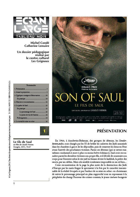 affiche du dossier Le Fils de Saul