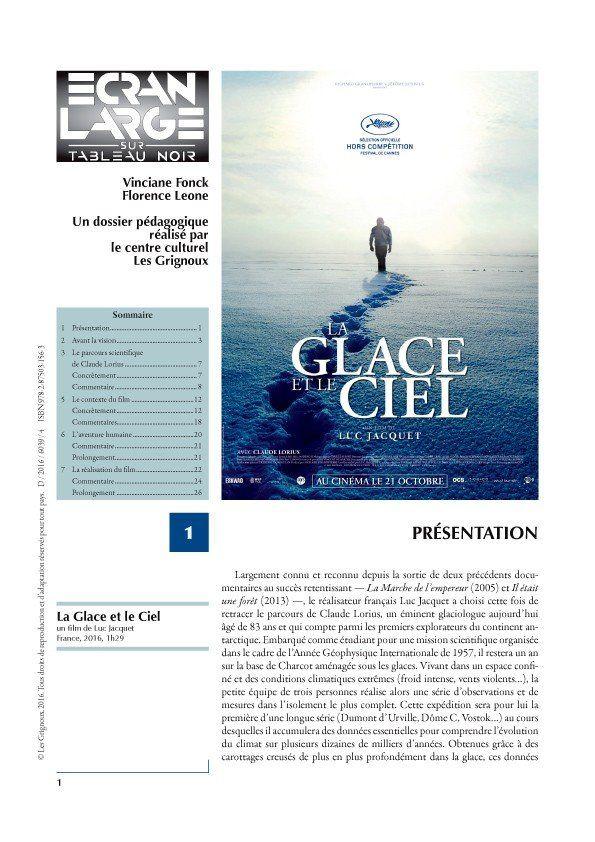 affiche du dossier La Glace et le Ciel
