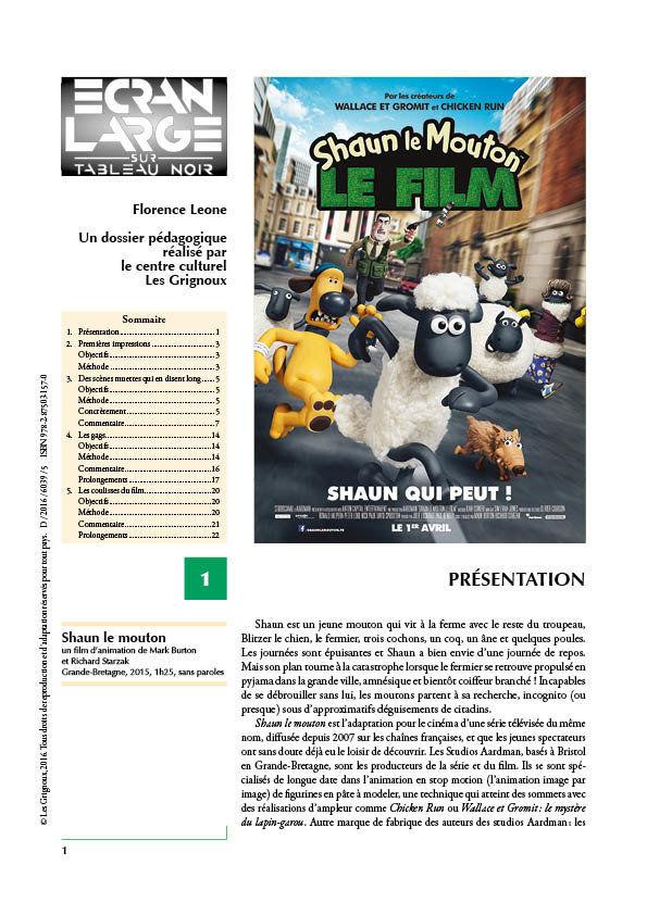 affiche du dossier Shaun le mouton