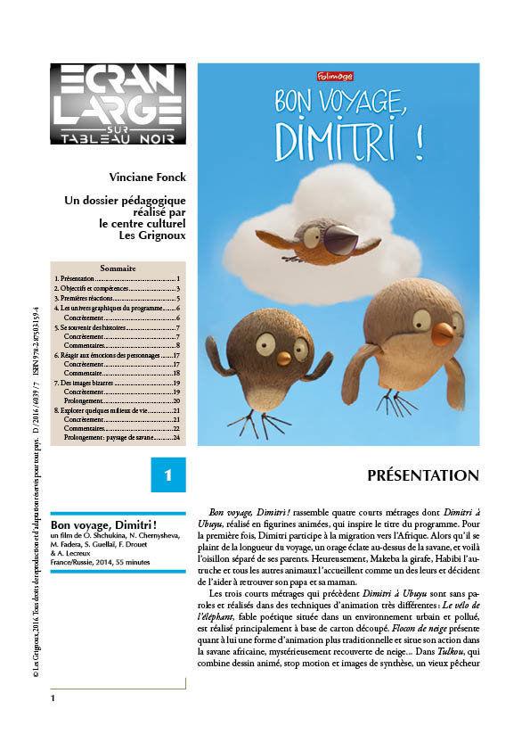 affiche du dossier Bon voyage, Dimitri !