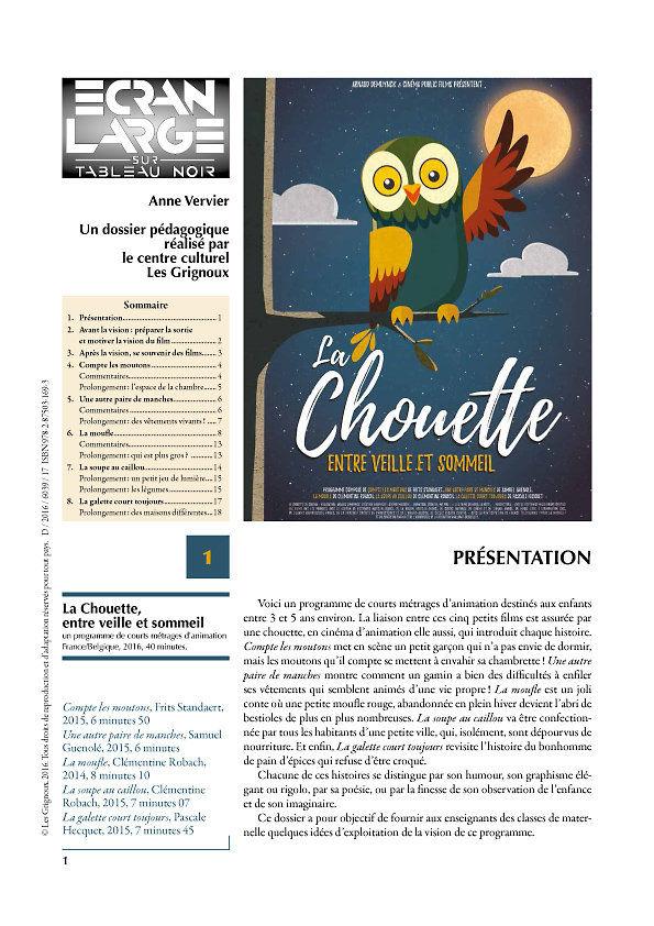 affiche du dossier La Chouette entre veille et sommeil