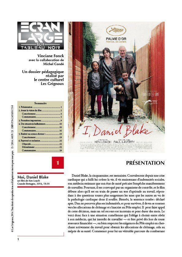 affiche du dossier Moi, Daniel Blake