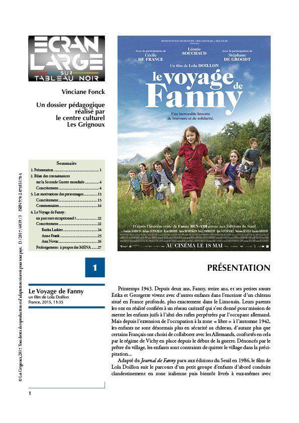 affiche du dossier Le Voyage de Fanny