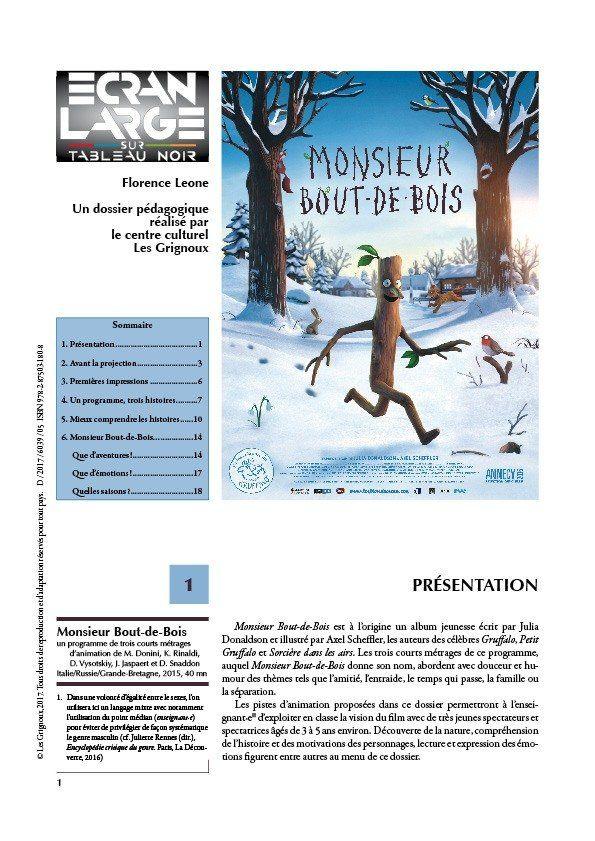 affiche du dossier Monsieur Bout-de-Bois