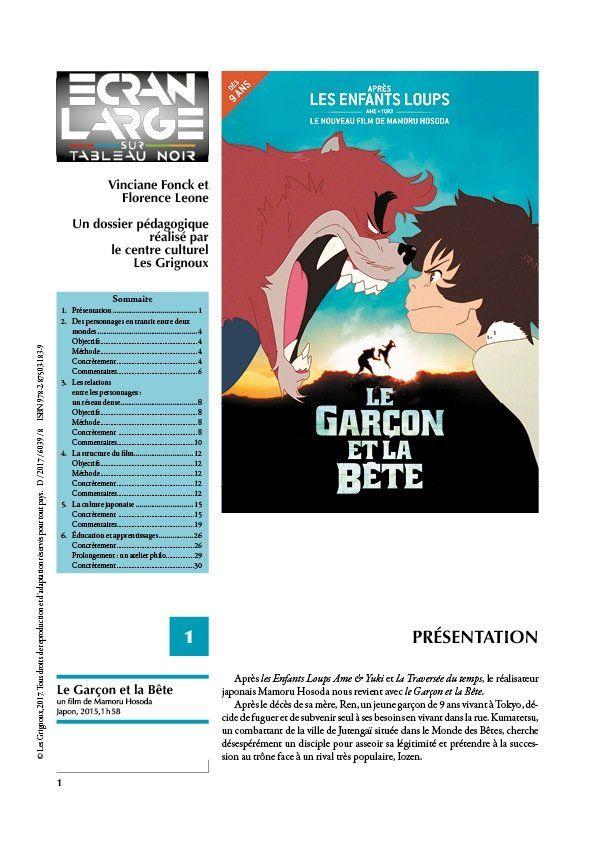 affiche du dossier Le Garçon et la Bête
