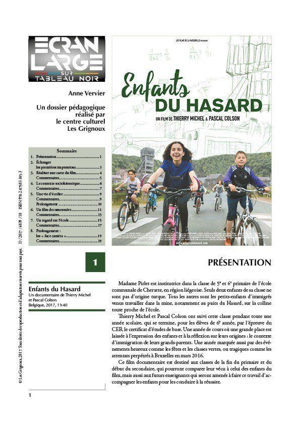 affiche du dossier Enfants du Hasard